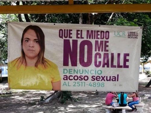 Campaña informativa en la UCR busca aumentar las denuncias por acoso sexual.